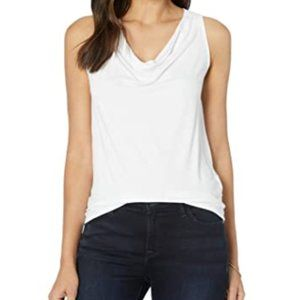 Michael Stars Eve Cowl Neck Tee in White Size M